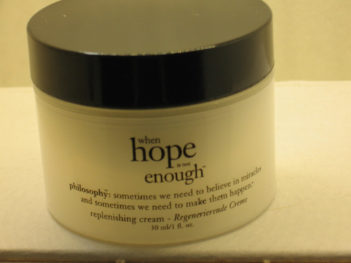 PHILOSOPHY WHEN HOPE IS NOT ENOUGH REGENERIERENDE CREME
